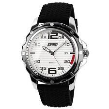 Reloj De Pulsera SKMEI para hombre delicado Deportivo Impermeable De Silicona Cuarzo Analógico Fecha