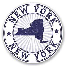 2 x New York USA Vinyl Sticker Laptop Travel Luggage Car #5601