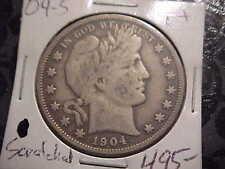 1904-S  F+  Barber Half Dollar   L,I,T,Y   most all BER