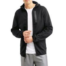 Russell Mens Knit Hooded Athletic Jacket Tech Phone Pocket Sweatshirt Zipper