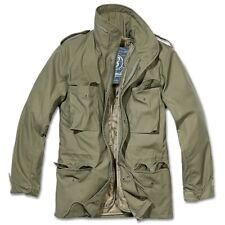 Brandit - M65 Standard Feldjacke oliv, Parka US Style Jacke mit Futter