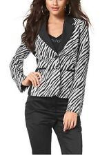 Bruno Banani Blazer NEU Gr.32-50 Damen Jacke Schwarz/Weiß Business Zebradruck
