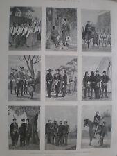Development Japan army 1867 to 1894 prints