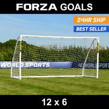 FORZA Match Football Goal | 12ft x 6ft | Mini-Soccer Goal | Kids Goal | PVC Goal