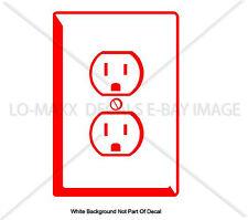 Wall Outlet Electric Socket Creative Unique Art Design Die Cut Vinyl Decal