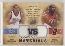 2009-10 Upper Deck VS Dual Materials #VS-TM Thabo Sefolosha Martell Webster Card