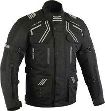 Winter motorrad Jacke, Biker Textile Jacke, Touren Wasserdicht Jacke Schwarz Neu