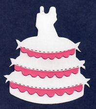 10 DIE CUT WEDDING CAKE con glassa 4 parte colori assortiti card making 7.5 x6.5 cm