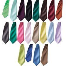 Hommes Premier Couleur Satin Barrette Professionnel Étroit Blade Cravate