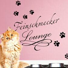 Wandtattoo Wandsticker Wandaufkleber Flur Feinschmecker Katze Hund Pfote W1399