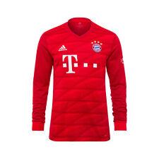 adidas Official Kids FC Bayern Munich Home Long Sleeve Football Shirt Top 2019-2