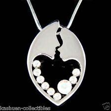 w Swarovski Crystal MOM Mother Love Baby Child Heart Motherhood Pendant Necklace