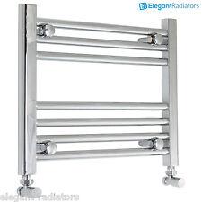 400 mm High Heated Towel Rail Radiator Chrome Flat Designer Bathroom Niche Size