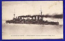 CPA Noir et Blanc MARINEde GUERRE ERNEST RENAN Croiseur corsaire B.C.