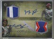 2014 Bowman Inception Dual Autographed Patch #DAP-FB Maikel Franco Jesse Biddle