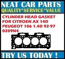 CYLINDER HEAD GASKET FOR PEUGEOT 106 1.4D 92-96 CITROEN AX 14D 91-97 0209N4