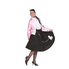 Black Poodle Skirt 50's Scarf Sock Hop 1950's Retro Grease Sandra Dee Adult