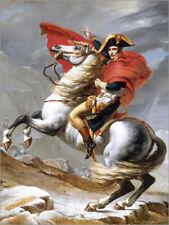 Póster, lienzo o cuadro en metacrilato Napoleón cruzando el Gran... - J. David