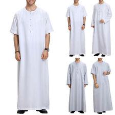 Thobe Dishdasha Mens Thawb Thoub Muslim Islamic Abaya Daffah Kaftan Robe Dresses
