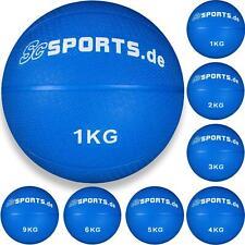 Medizinball 1 - 9 kg blau Fitnessball Rehaball Gewichtsball Fitness