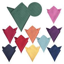 JA Herringbone Silk Solid Plain Casual Mens Hanky Handkerchief Pocket Square