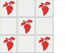 12 x 90mm Tile transfers stickers Grapes contour cut no background