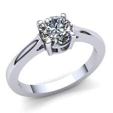 Natural 0.75ct RoundDiamond Ladies Bridal Solitaire Engagement Ring 10K Gold