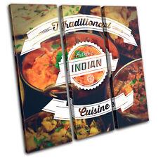 Indian Typography  Food Kitchen TREBLE TOILE murale ART Photo Print