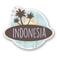 2 x Indonesia Vinyl Sticker Laptop Travel Luggage Car #6763