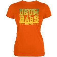 Drum And Bass Forever Orange Juniors Soft T-Shirt
