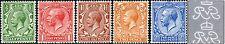 1912-24 KGV Royal Cypher ½d, 1d, 1½d, 2d, 2½d Definitives WATERMARK REVERSED
