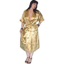 seidig glänzend MORGENMANTEL gold* M, L, XL, XXL * Negligee Pyjama Dessous