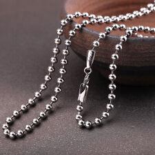 F03 Kugelkette Silberperlen Sterling Silber 925 3 mm Länge 55 cm / 60 cm / 65 cm