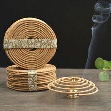 48 pcs/Box Natural Sandalwood Coil Incense Fragrance Wood Fragrant Aromatic Hot
