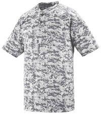 Augusta Sportswear Men's Digi Camo Baseball Softball Henley Jersey T-Shirt. 1555
