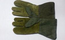 1 Paar Handschuhe 4 Finger NVA Einstrich Keinstrich Gr.9 / L oliv grün gefüttert