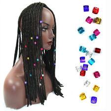 Hair Wire Wrap Strings for Box Braids and Dreadlocks Hair Rings Beads Cuff Clip