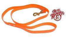 """PETE RICKARD - NEW ORANGE BIOTHANE DOG SAFETY LEAD 48"""" DD699 - BIRD DOG HUNTING"""
