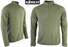 Mens Combat Mid Base Layer Warm Military Alpha Fleece Army Zip Top Jacket Green