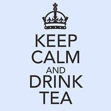 KEEP CALM AND DRINK TEA Kitchen/Room Cupboard Wall Art Vinyl Sticker - Large