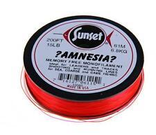 Amnesia Red Leader - Fishing Line - Memory Free Monofilament Line
