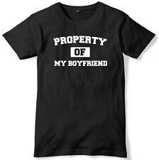 Propiedad De Mi Novio Camiseta Unisex Para Hombre Divertido