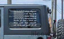American Flag Pledge of Allegiance vinyl sticker decal USA America truck windows