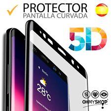 PROTECTOR CURVO de pantalla completa 5D para Samsung Galaxy S7 y S7 edge .
