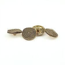 12 PCS Gold Metal Chain Shank Button Sewing Decorative Buttons Coat Suit 25mm