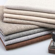 Thick Solid Plain Coarse Linen Hessian Car Upholstery Sofa Cushion Pillow Fabirc