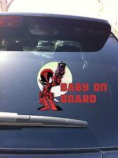 20-01 Deadpool Cartoon BABY ON BOARD Decal Sticker