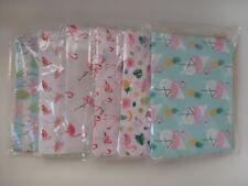 Flamingo Print Two Handle Size Clutch Handbag 20 x 28cm (6 Asst Colours)