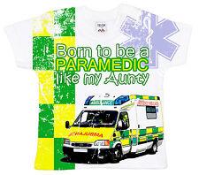 "DF camiseta para bebé Estampado Integral ""Nacido ser un Paramédicos like my"