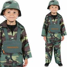 Boys Army Fancy Dress Costume Age 4-12yrs Fancy Dress Outfit Smiffys 38662